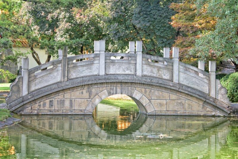 中国庭院桥梁细节视图 库存照片