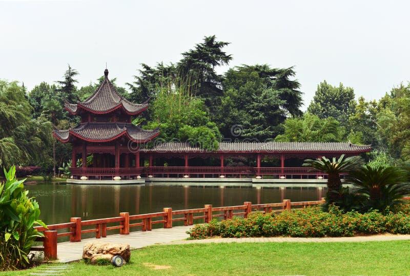 中国庭院横向 免版税库存照片