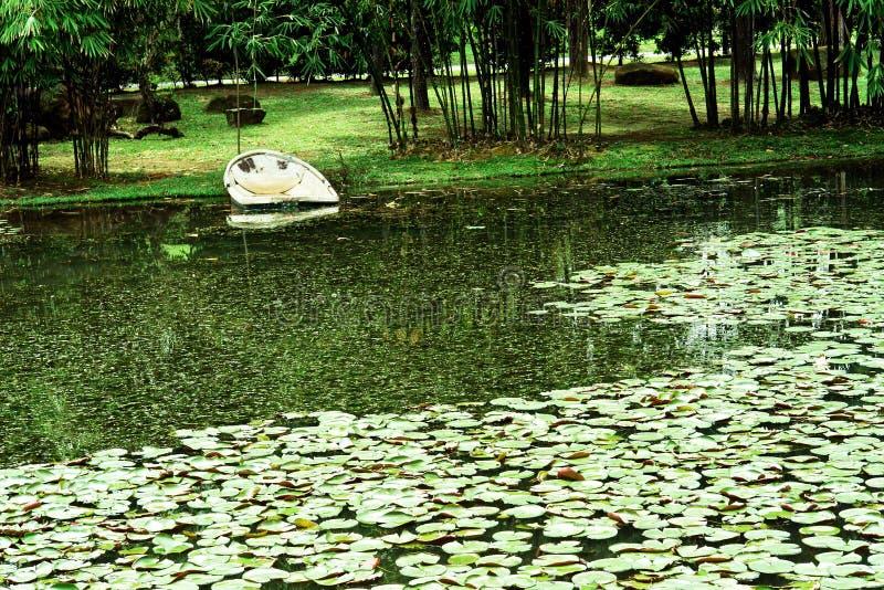 中国庭院-句容中央公园,新加坡 库存照片