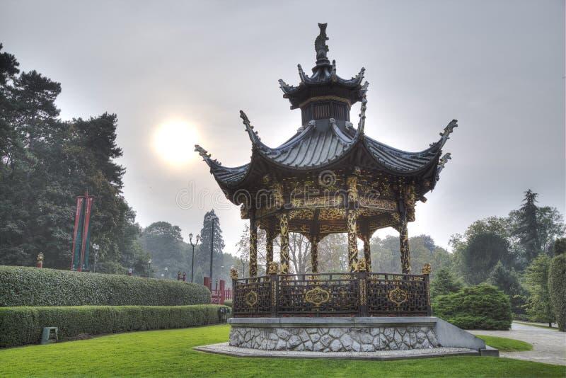中国房屋建设在布鲁塞尔,比利时 免版税图库摄影