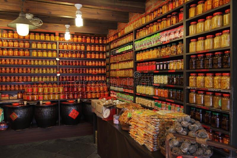 中国手工制造被发酵的豆腐和腌汁 免版税库存照片