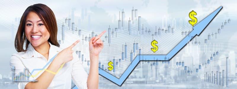 中国投资者妇女 免版税库存照片