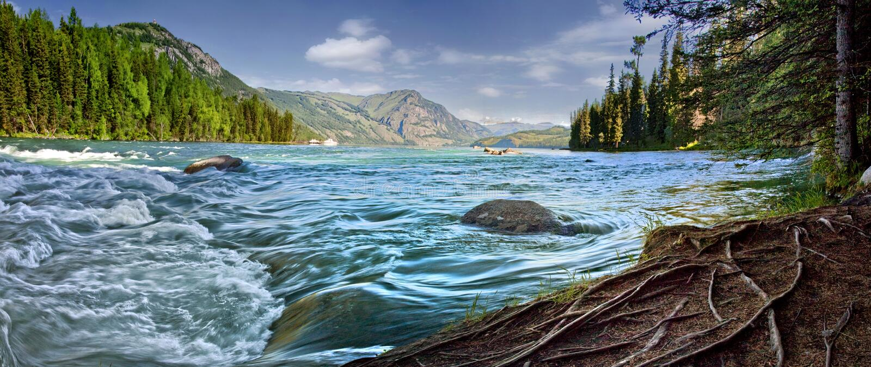 中国新疆kanas湖 免版税库存照片