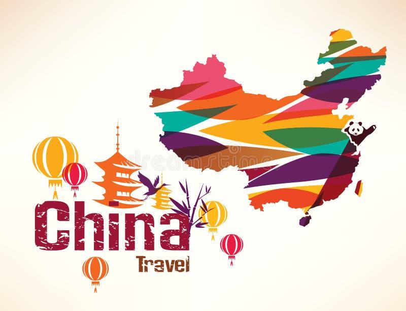 中国旅行背景 库存例证