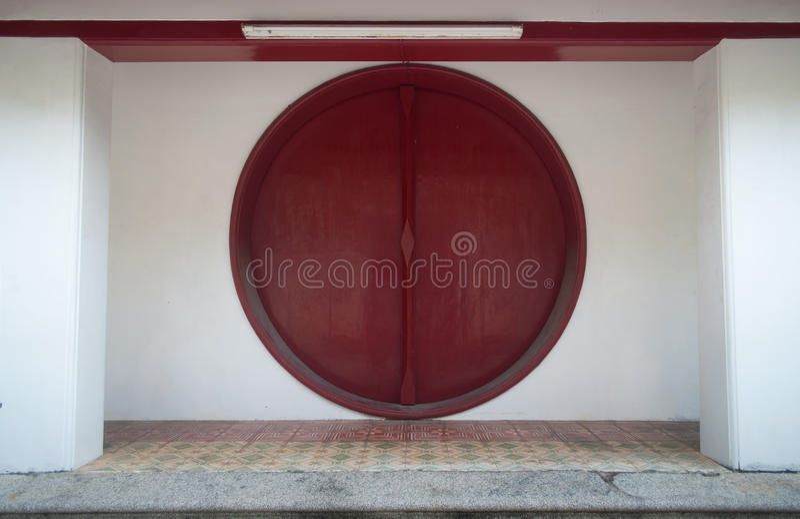 中国月亮门 免版税图库摄影