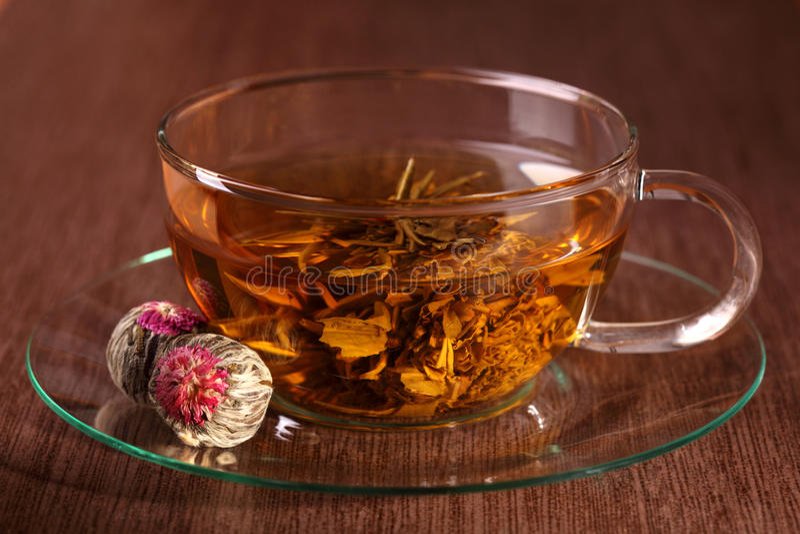 中国杯子玻璃茶 库存图片
