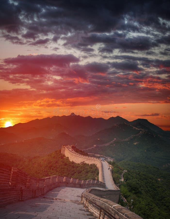 中国极大的视图墙壁 库存图片