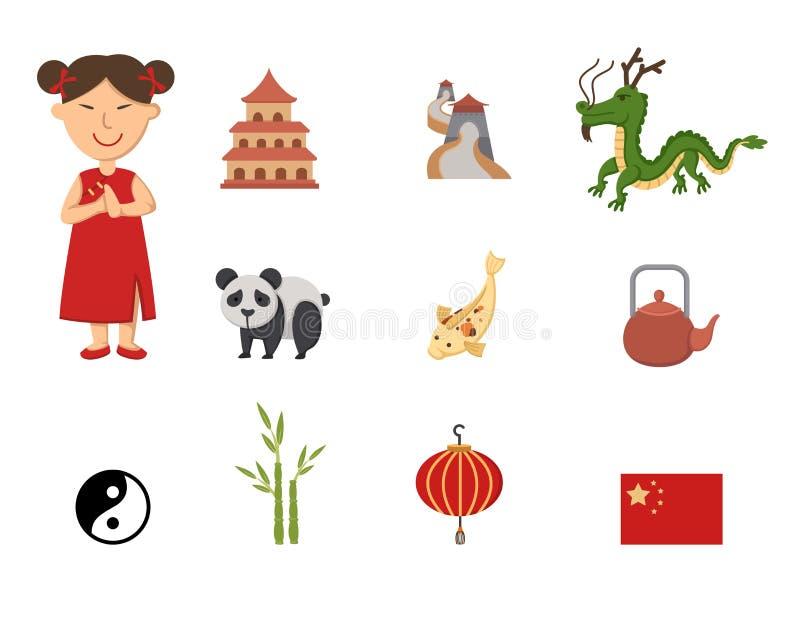 中国标志 库存例证