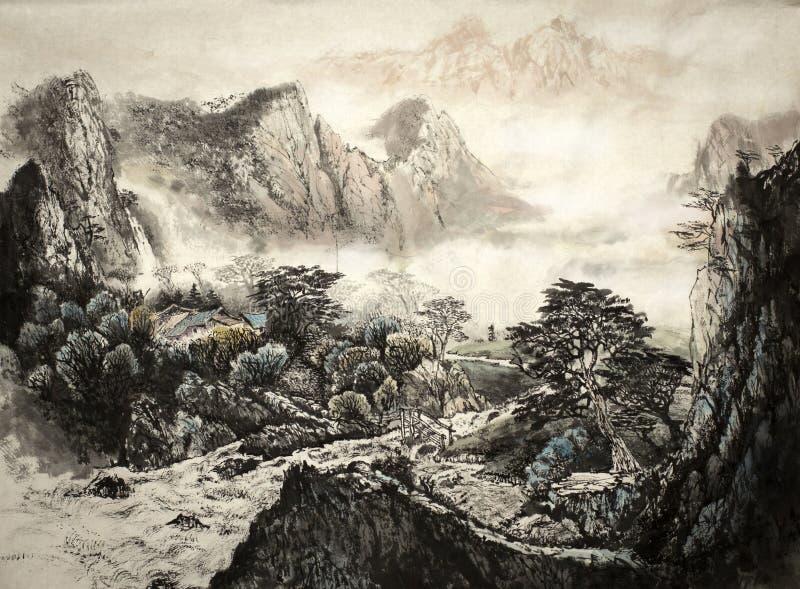 中国横向山 库存例证