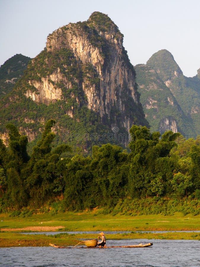中国横向锂河 免版税库存图片