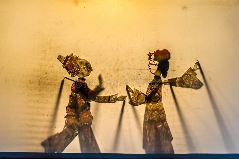 中国民间剧院艺术,阴影 免版税库存图片
