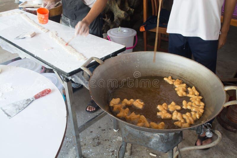 中国油炸Doughstick或面团棍子 库存图片