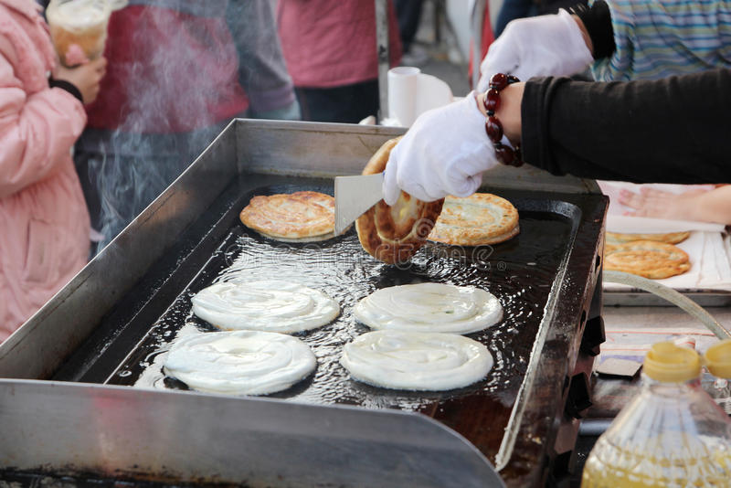 中国油煎的薄煎饼 库存图片