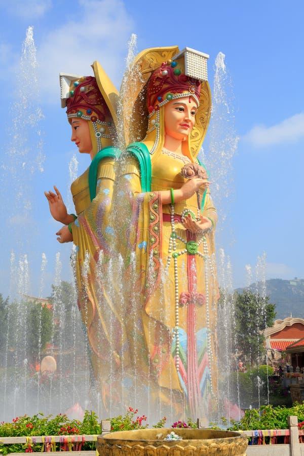中国海女神mazu的雕象,srgb图象 库存照片