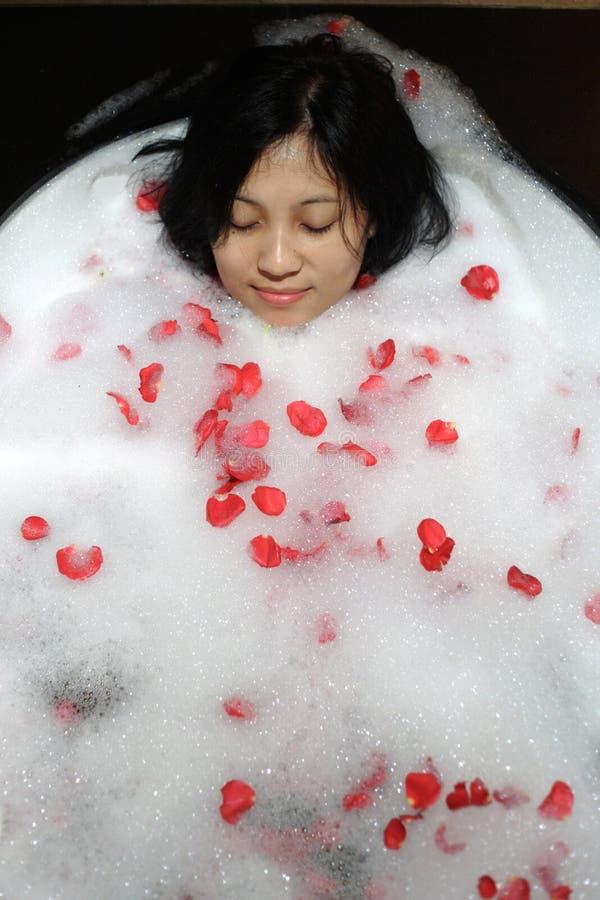 中国温泉妇女 免版税库存图片