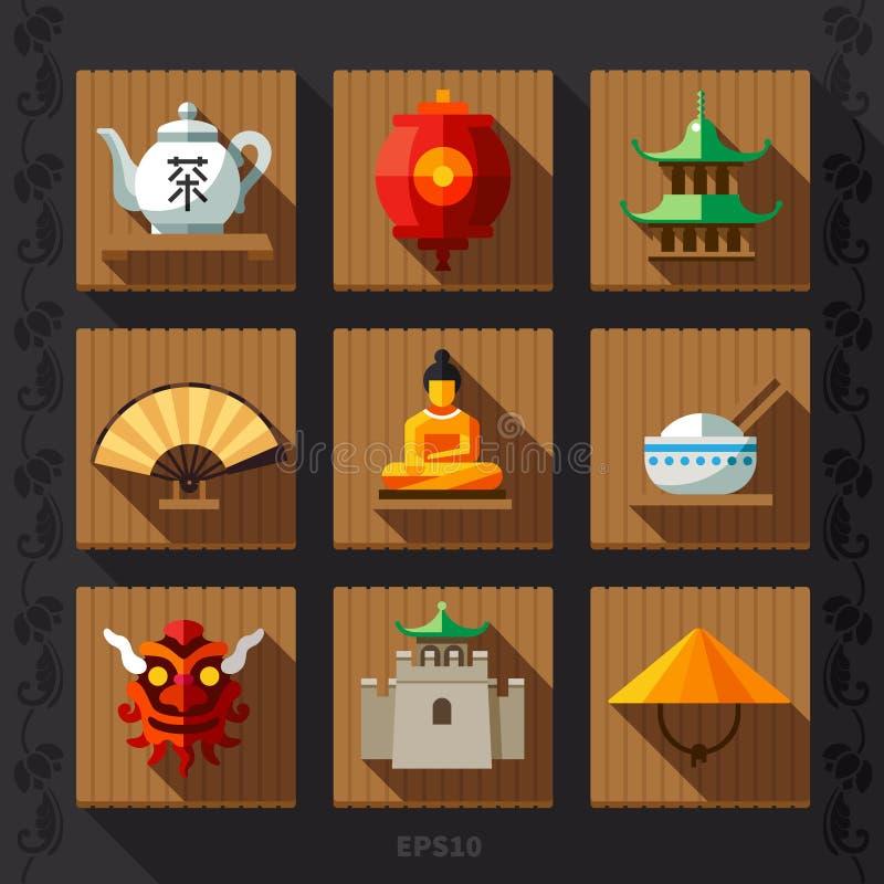 中国灯笼平的象传染媒介 皇族释放例证
