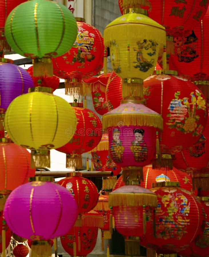 中国灯笼新的纸年 免版税库存图片