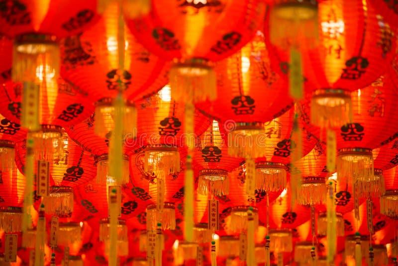 中国灯笼新的纸年 库存图片