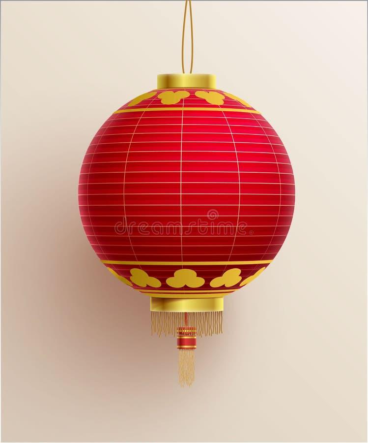 中国灯笼现实对象eps 10 皇族释放例证