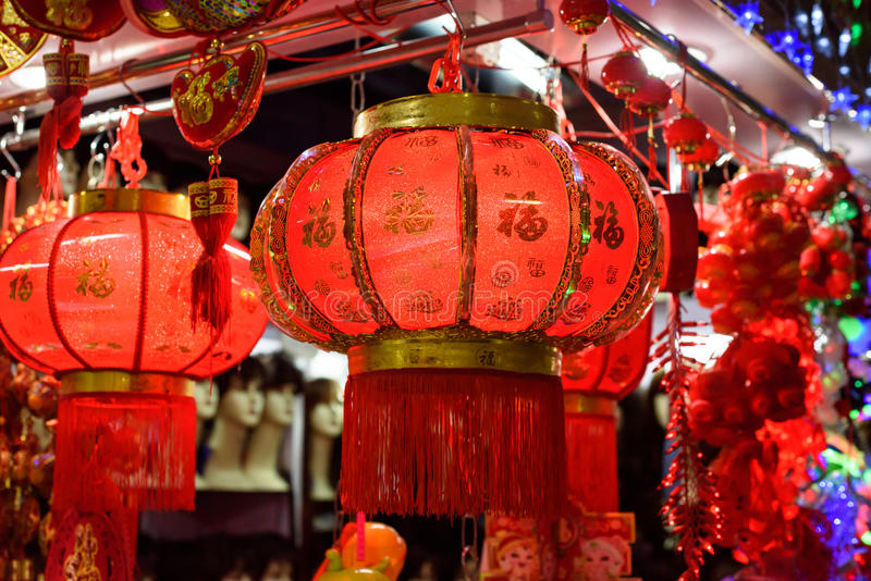 中国灯笼红色 库存图片