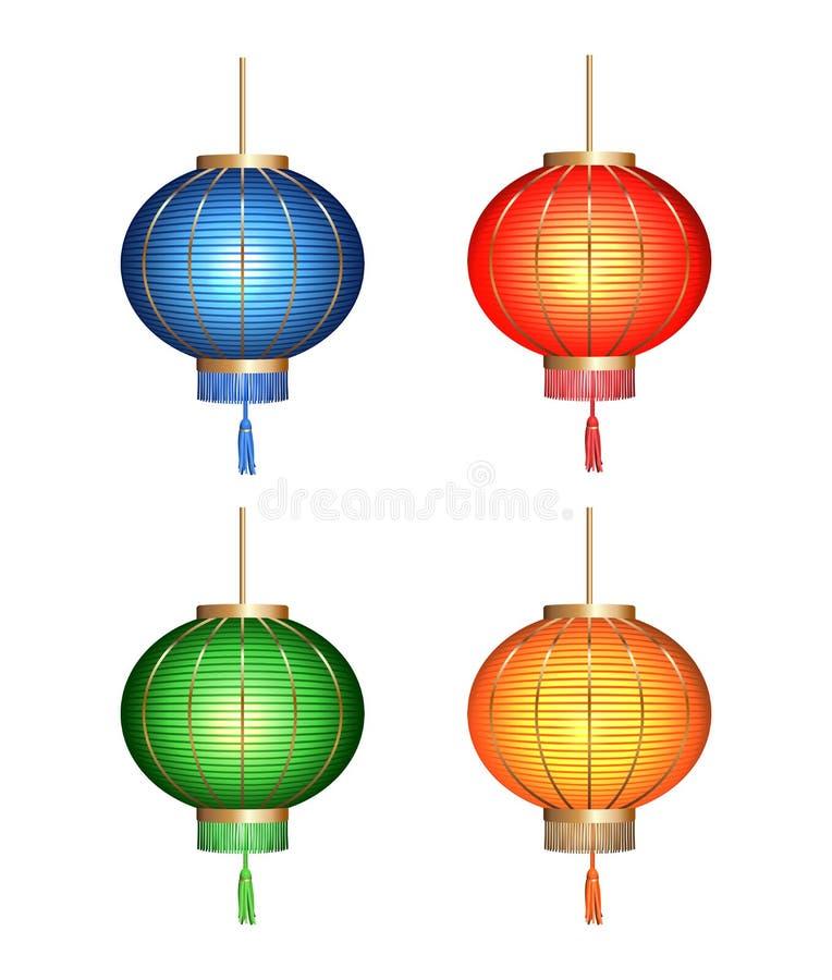 中国灯笼纸张 皇族释放例证