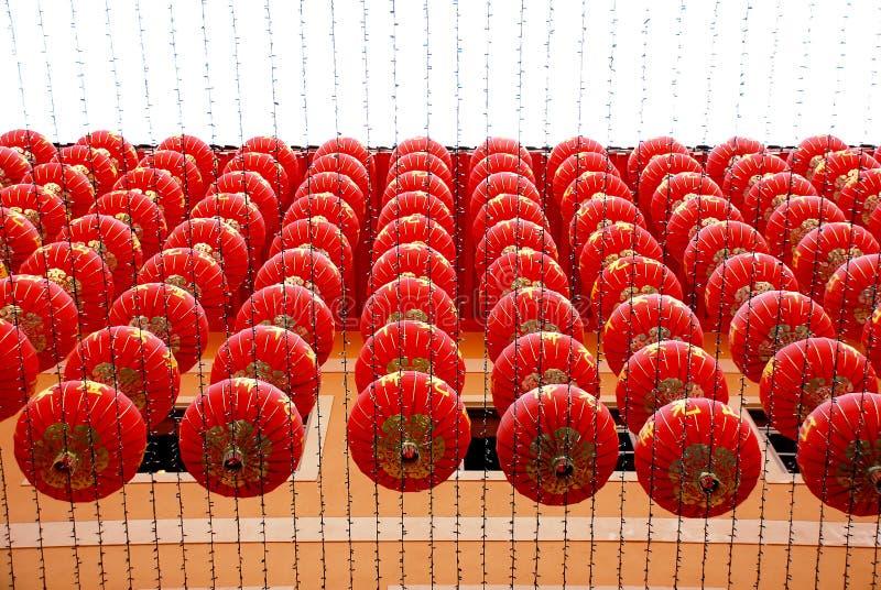 中国灯笼行 免版税图库摄影