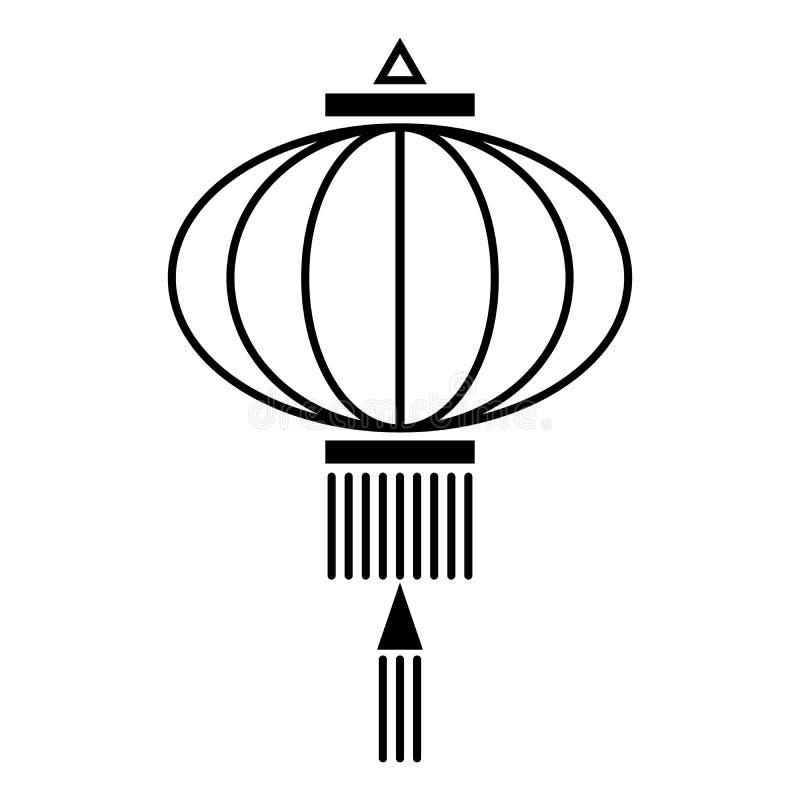 中国灯笼象 库存例证