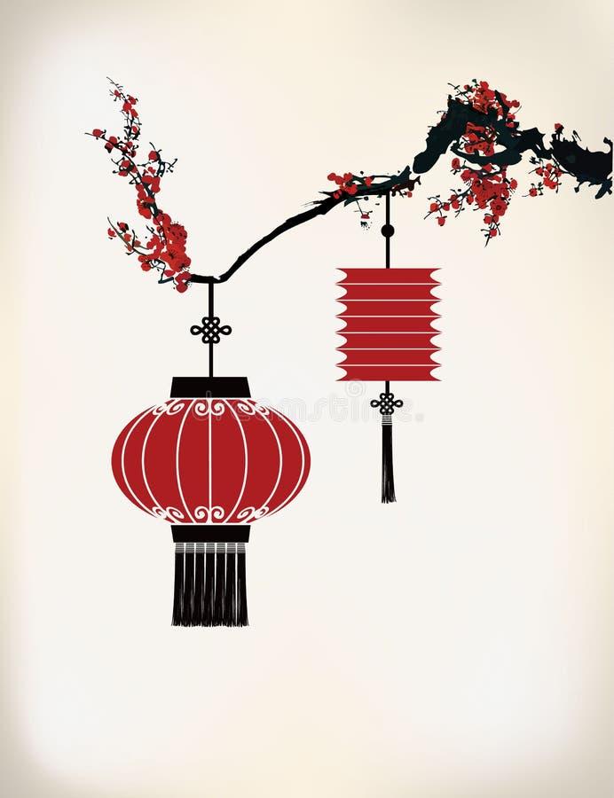 中国灯笼 皇族释放例证