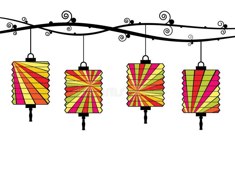 中国灯笼 向量例证