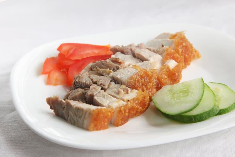 中国烤猪肉 免版税库存照片