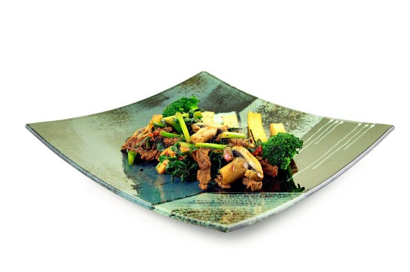 中国牛肉盘 免版税库存图片
