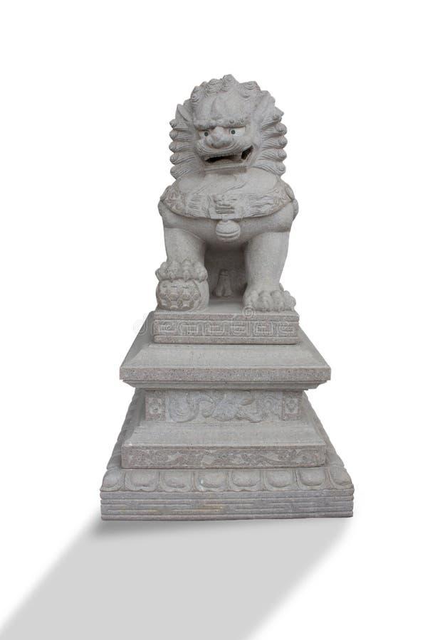 中国狮子雕塑 库存照片