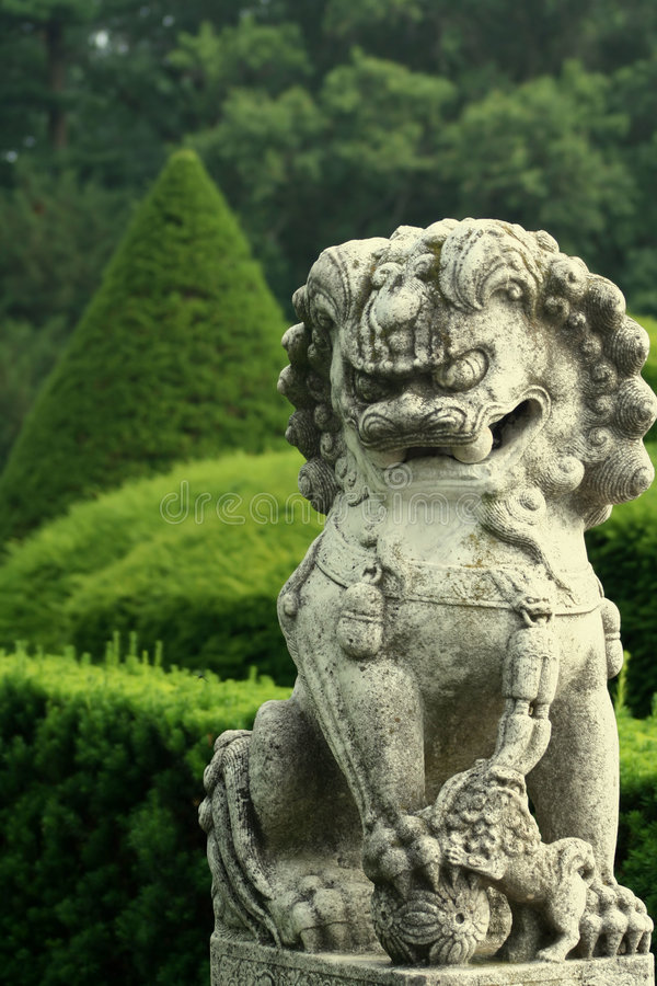 中国狮子 库存照片