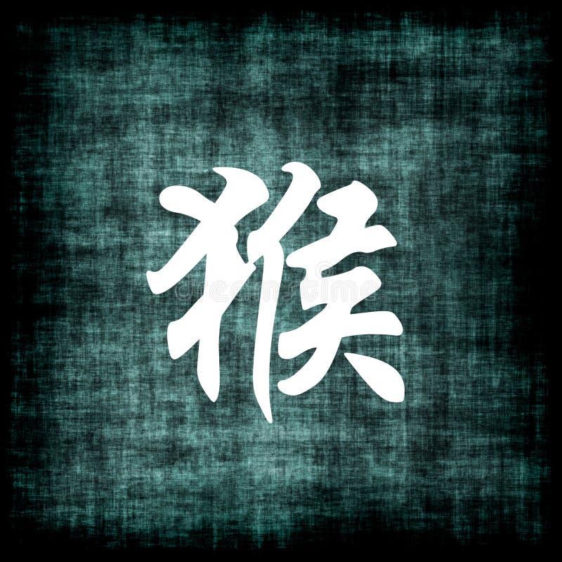 中国猴子符号黄道带 皇族释放例证