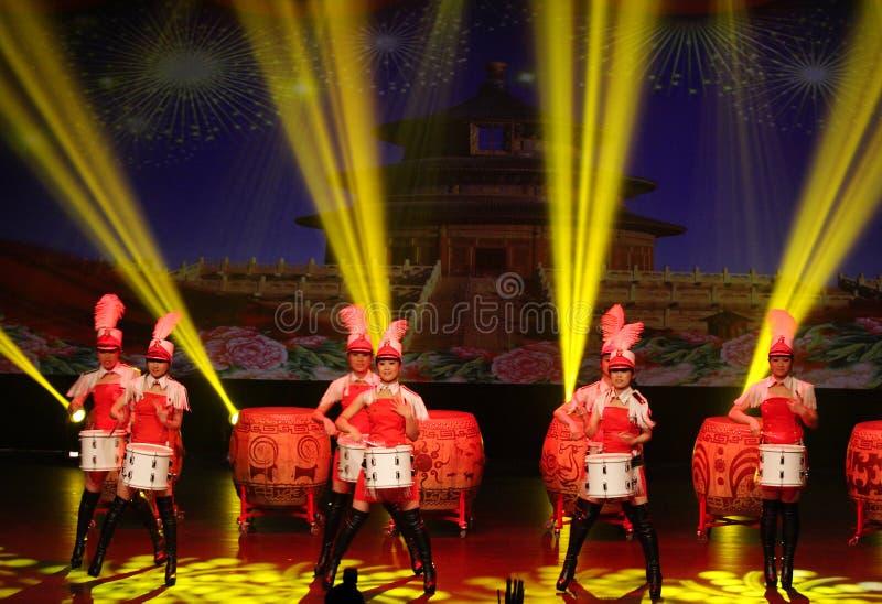 中国现代青年乐队在巴林执行 库存图片