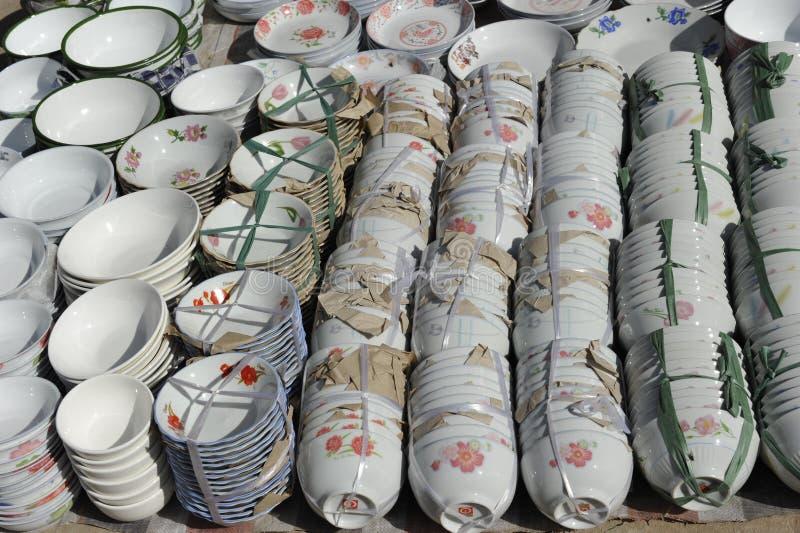 中国瓦器 免版税库存照片