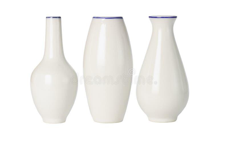 中国瓷塑造多种花瓶 库存照片