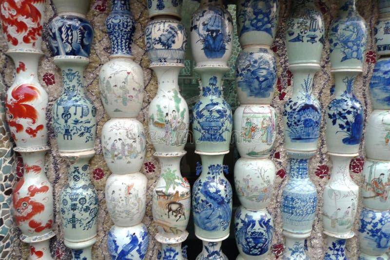中国瓷议院博物馆ChinaHouse天津瓷砖花瓶马赛克 免版税库存图片