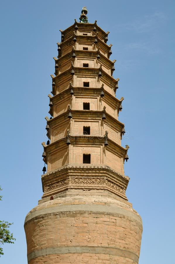 中国白色塔 免版税图库摄影