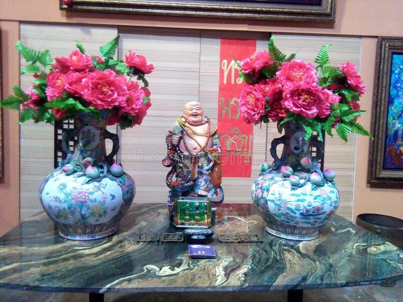 中国的全国花和雕塑中国 免版税库存照片