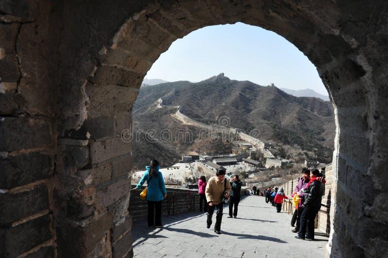 中国的北京极大的墙壁 图库摄影