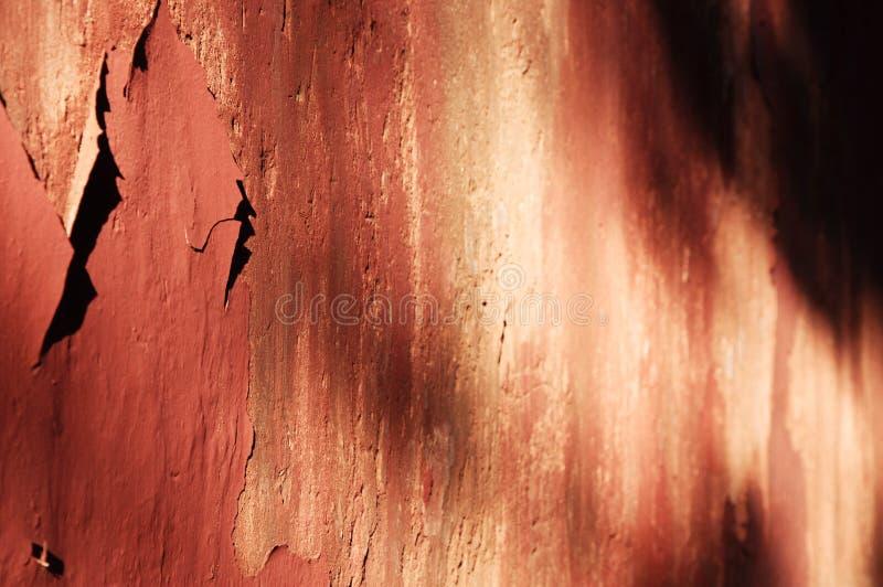 中国的古老红色墙壁 图库摄影