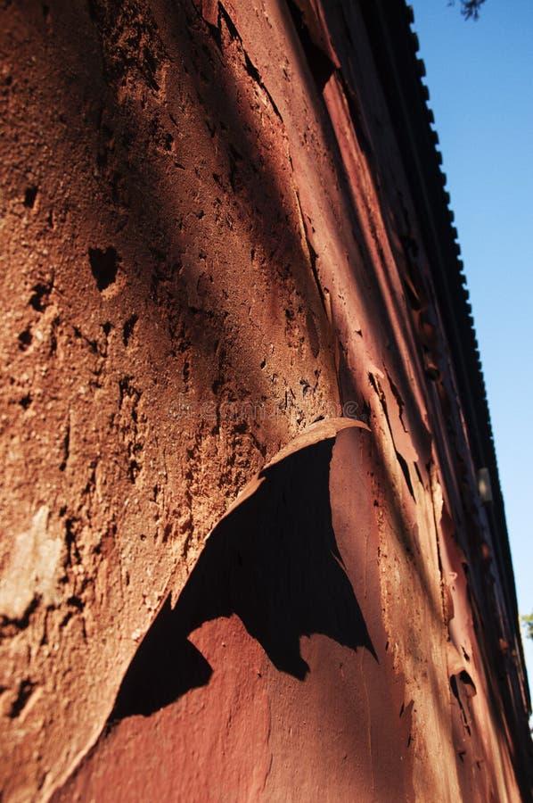 中国的古老红色墙壁 库存照片