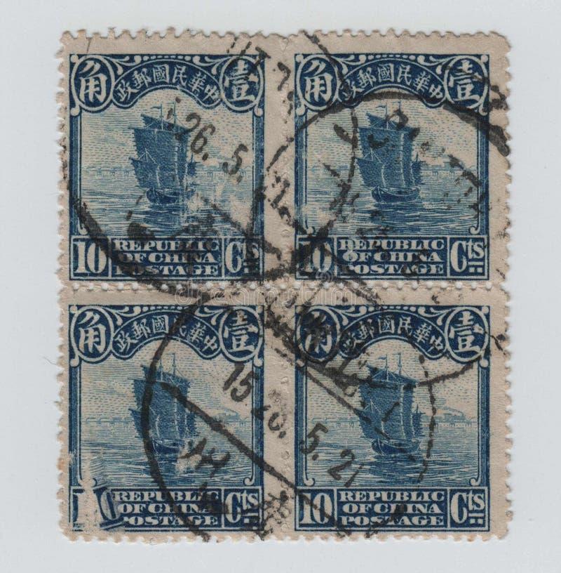 从中国的岗位邮票 库存照片