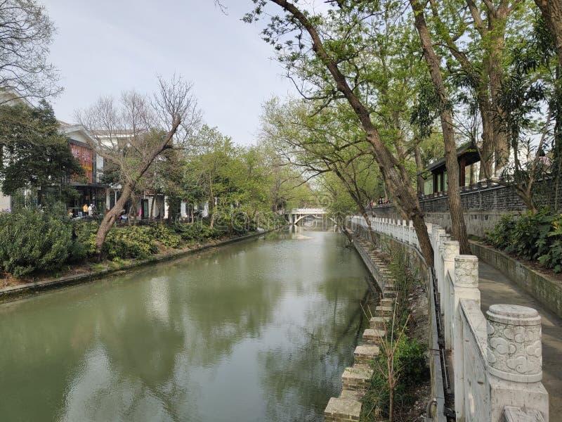 中国的广西北海河街道视图 库存图片