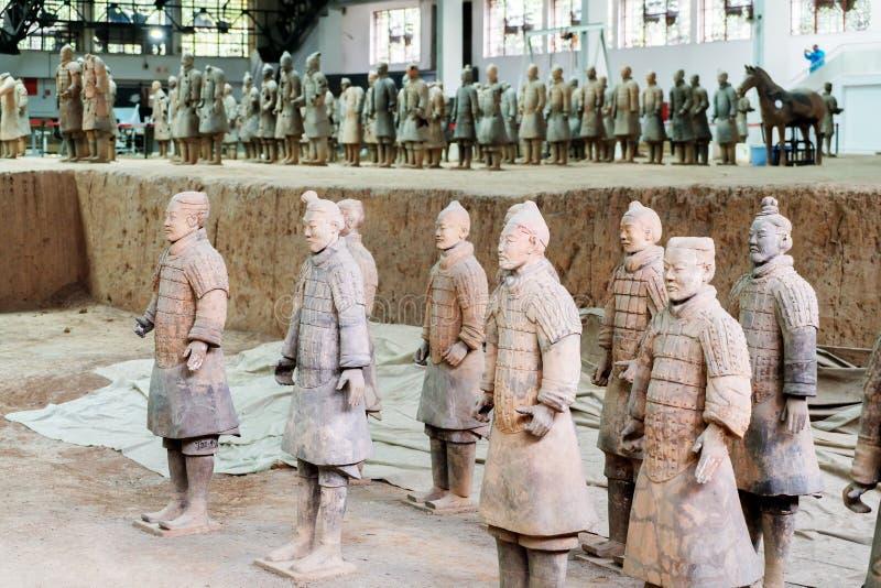 中国的赤土陶器战士 库存照片