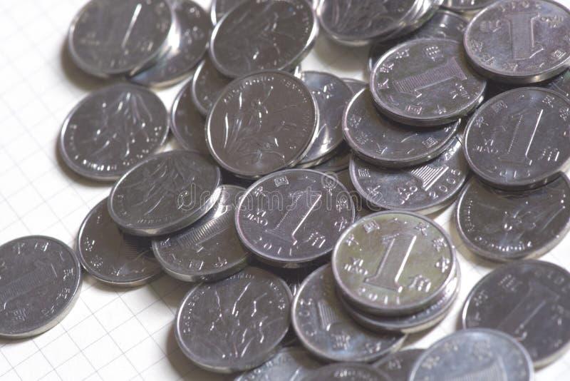 中国的10枚市分硬币是非常小的 免版税图库摄影