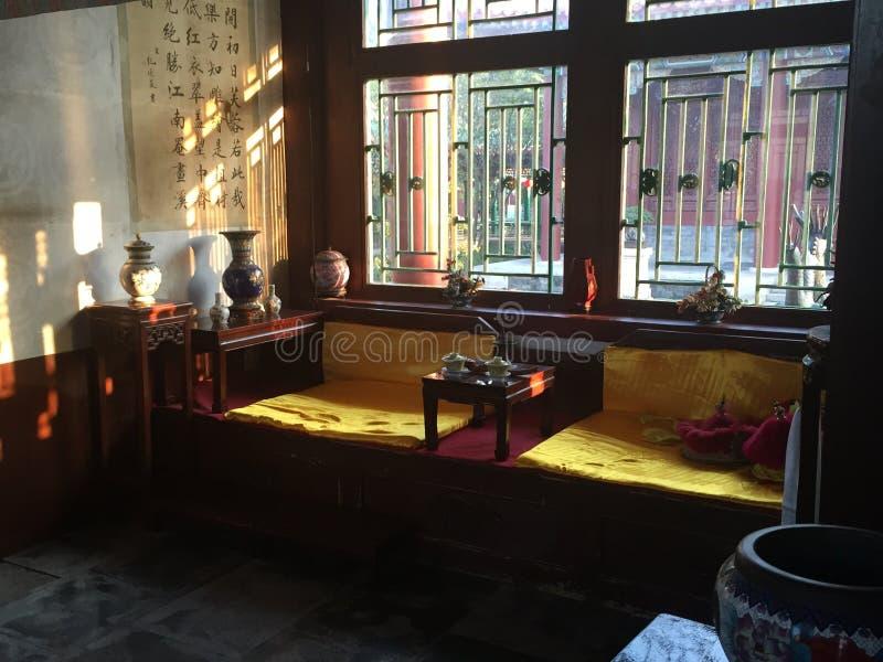 中国皇帝的卧室 免版税图库摄影
