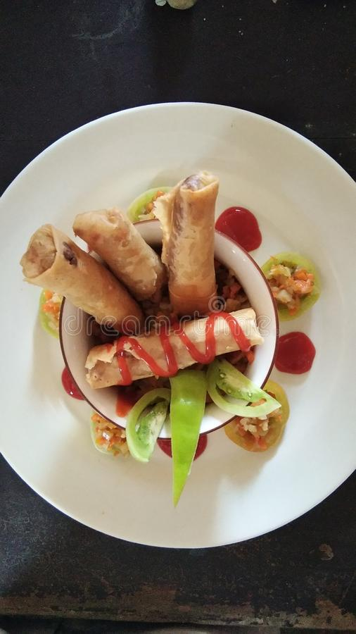 中国盘食物餐馆蔬菜 图库摄影