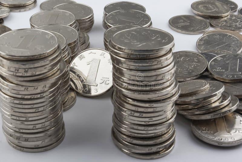 中国硬币(RMB) 免版税图库摄影